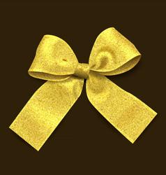 golden ribbon with glitter vector image
