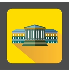 Government building with columns icon vector image