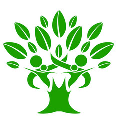 Green color family nature tree vector