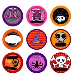Hallooween drink coasters vector