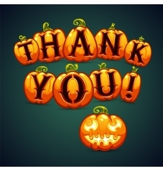 Halloween Pumpkin Says Thank You vector
