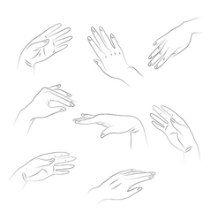 hands1 vector image