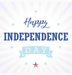 happy independence day usa star light stripes vector image