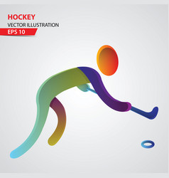 hockey sport logo vector image