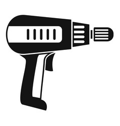home electric drill icon simple style vector image