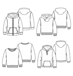 Hoodies 2 White vector