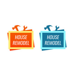 house remodel style logo for home renovation vector image