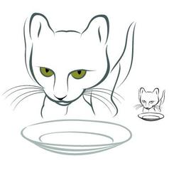 Hungry Cat vector image