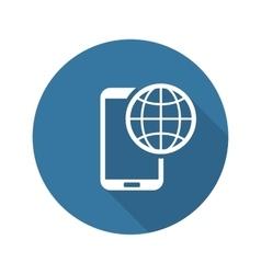 International Roaming Icon Flat Design vector