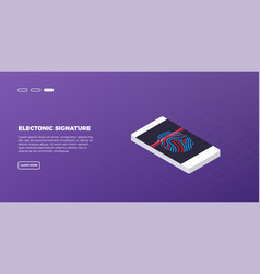 isometric modern touch smart-phone on modern vector image