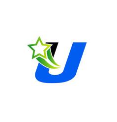 Letter u alphabetical logo design concepts set vector