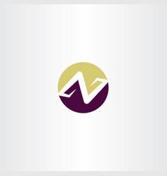logo letter n or z icon symbol element vector image