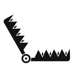 Metal trap icon simple style vector