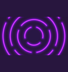 neon violet lighting tubes vector image