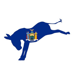 New york democrat donkey flag vector