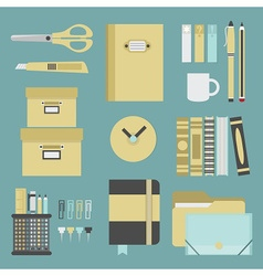 Office and school stationery icon set vector