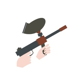 Paintball marker flat icon vector image