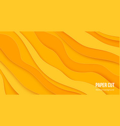 paper cut background 3d abstract wave layers vector image