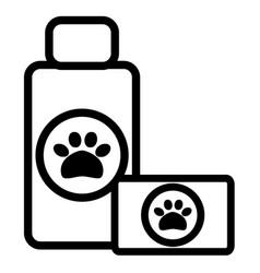 pet shampoo bottle and soap vector image