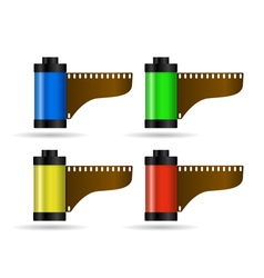 photo film in cartridge 2 vector image