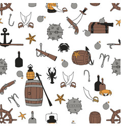 pirate seamless pattern vector image