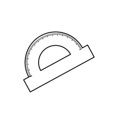 Protractor angle meter vector image