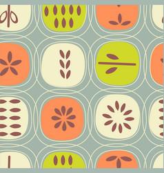 Retro scandinavian seamless pattern fruits vector
