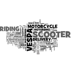 Scooter word cloud concept vector
