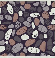 Sea pebbles stones seamless pattern vector
