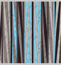 Seamless pattern with trees without leaves vector