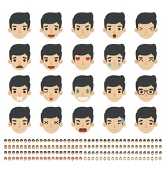 Set of emoticons faces icons eps10 forma vector