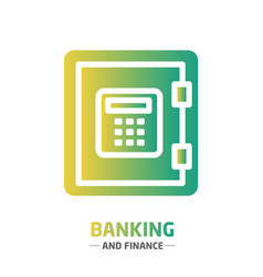 Shape design finance icon banking vector
