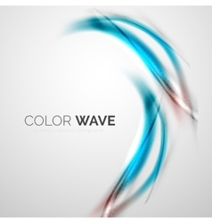 Shiny color wave vector image