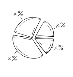 sketch of the pie chart vector image