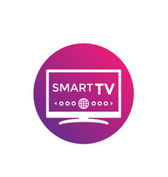 smart tv icon vector image