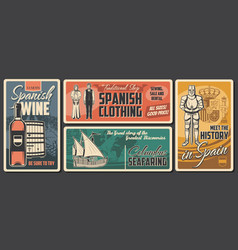 spain travel history national traditions vector image