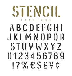 Stencil font 003 vector
