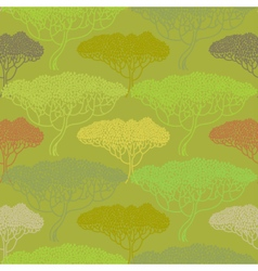 Stylized abstract autumn tree vector image