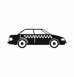 Taxi icon simple style vector image