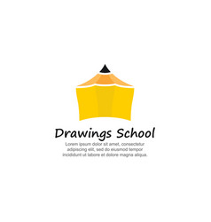 template logo for drawings school vector image