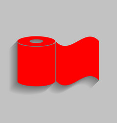 toilet paper sign red icon with soft vector image