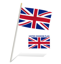 united kingdom flag on a white background vector image