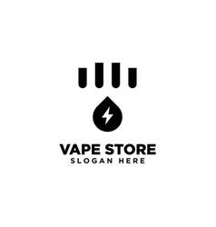 Vape store logo design template vector