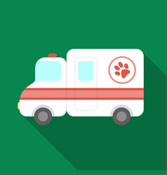Veterinary ambulance icon in flate style isolated vector