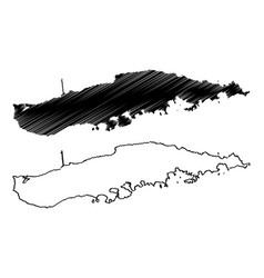 vieques island municipality commonwealth vector image