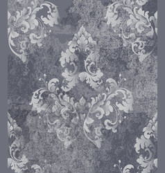 vintage baroque card background luxury vector image