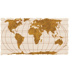 Vintage geographical map vector