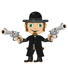 Wild West fictional character former priest vector