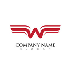 wing logo template icon design vector image