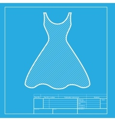 Woman dress sign White section of icon on vector image